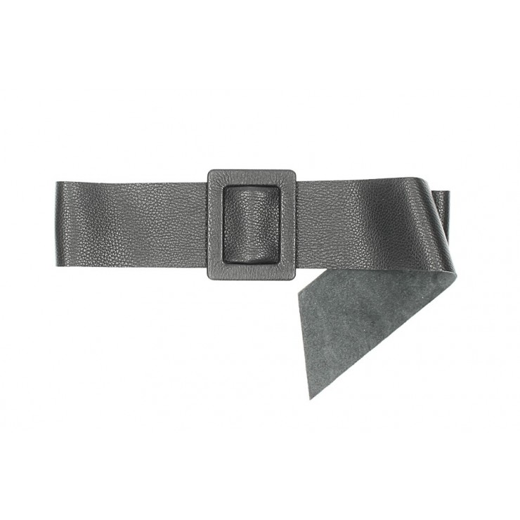 Women leather belt 1217 black Made in Italy