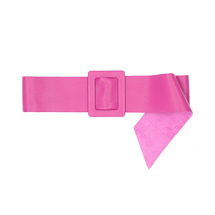 Women leather belt 1217 fuxia Made in Italy