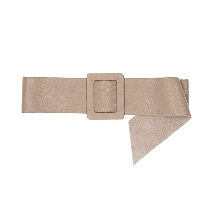 Women leather belt 1217 taupe Made in Italy