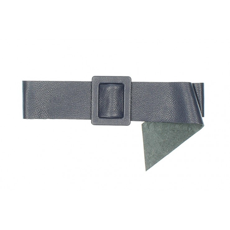 Dámsky kožený opasok 1217 tmavomodrý Made in Italy