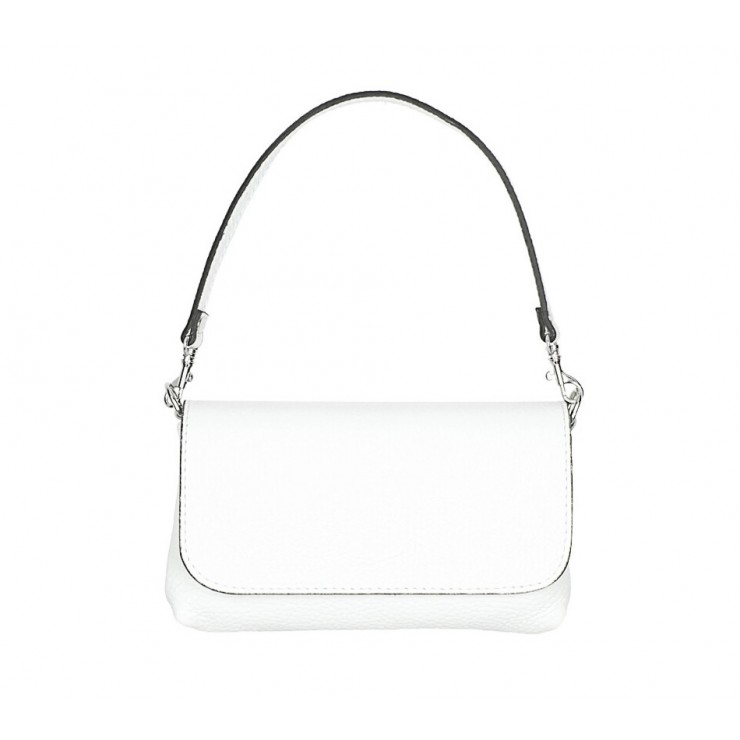 Genuine Leather HandBag 1219 white Mady in Italy