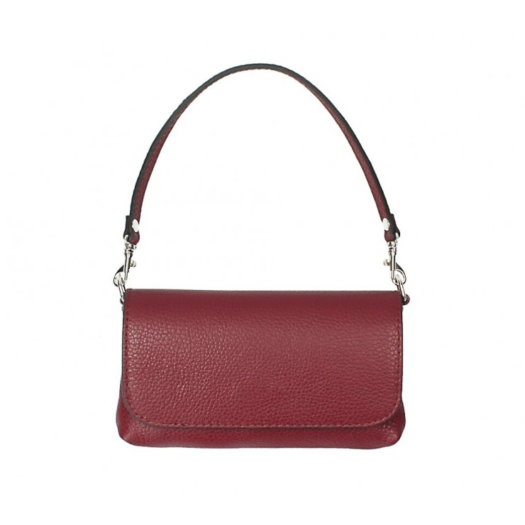 Genuine Leather HandBag 1219 bordeaux Mady in Italy