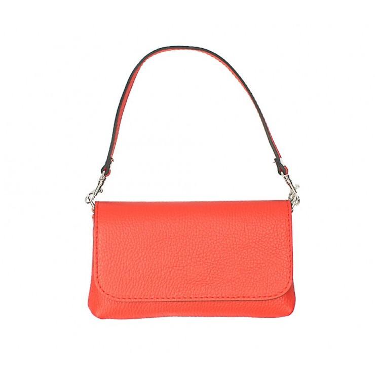 Genuine Leather HandBag 1219 coralMa y
