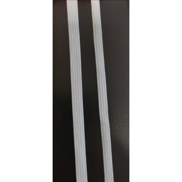 White elastic tape, height 5 mm