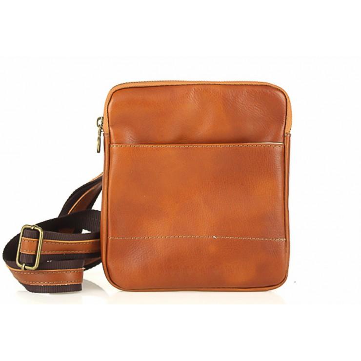 Pánska kožená taška na rameno  383 koňaková