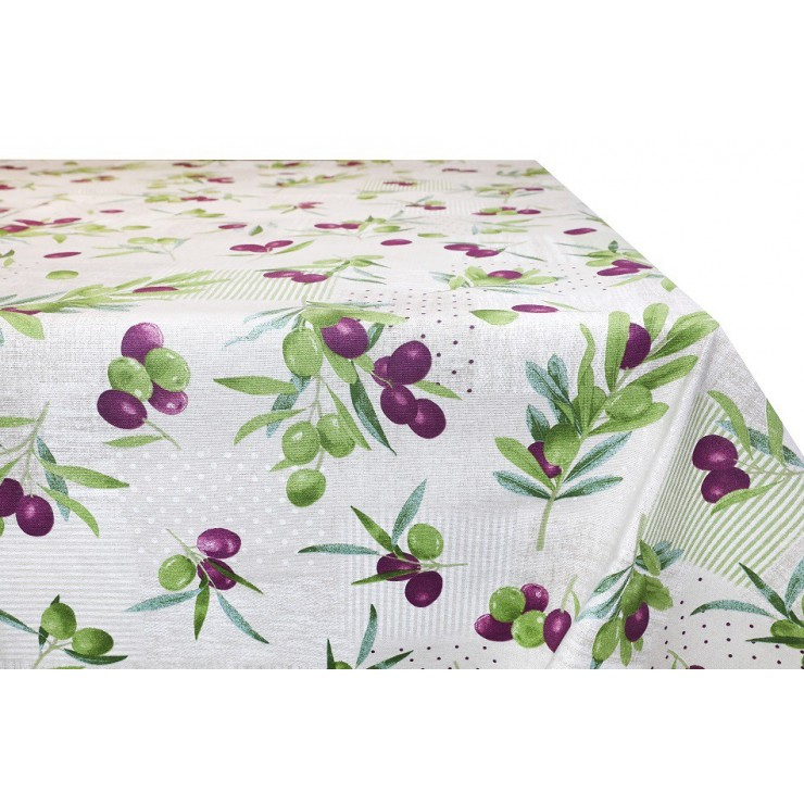 Cotton tablecloth Olives Made in Italy