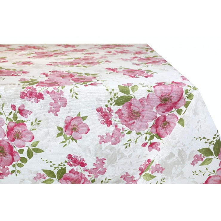 Cotton tablecloth Roses Made in Italy