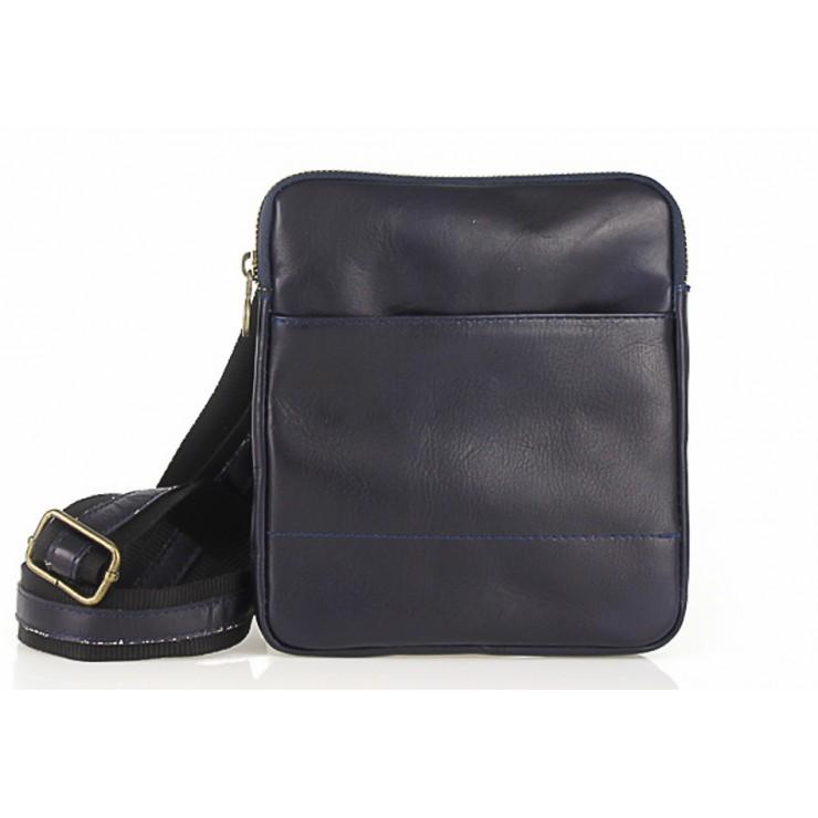 Pánska kožená taška na rameno  383 modrá