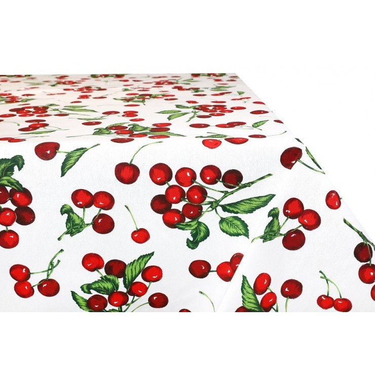 Cotton tablecloth cherries Made in Italy