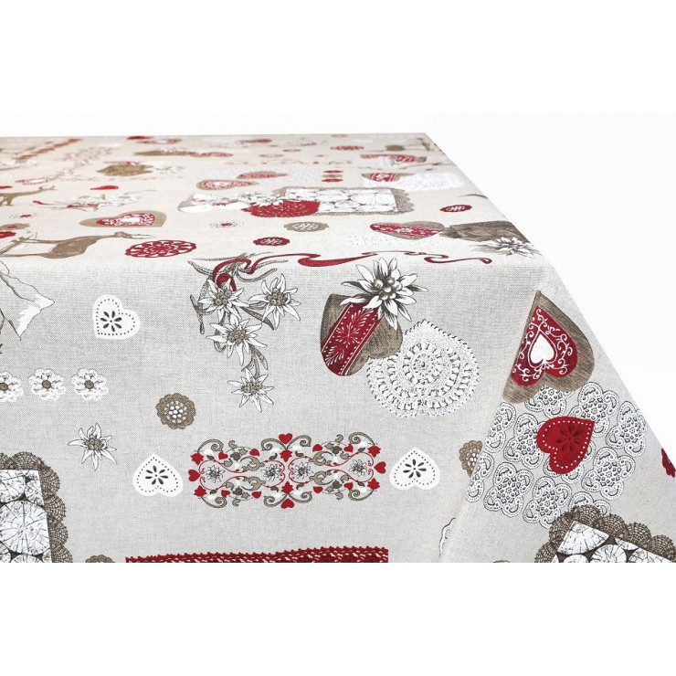 Cotton tablecloth 759TI Made in Italy