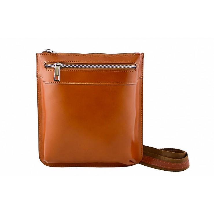Pánska kožená taška na rameno  6 koňaková