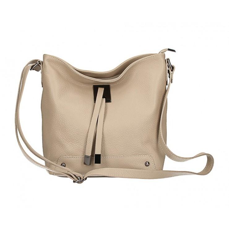 Kožená kabelka na rameno 825 šedohnedá