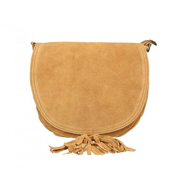 Kožená kabelka na rameno 703 koňak Koňak