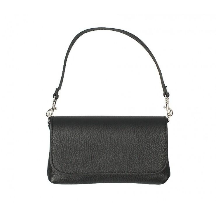 Kožená kabelka 1219 černá Made in Italy