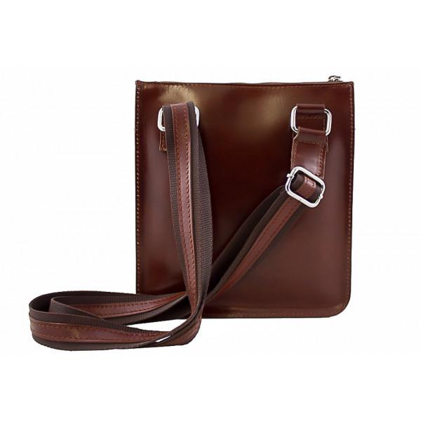 Pánska kožená taška na rameno  6 koňaková Koňak