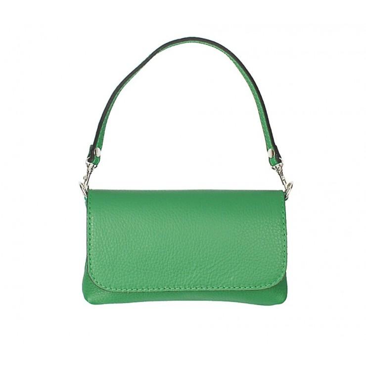 Kožená kabelka 1219 zelená Made in Italy