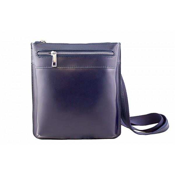 Pánska kožená taška na rameno  6 modrá
