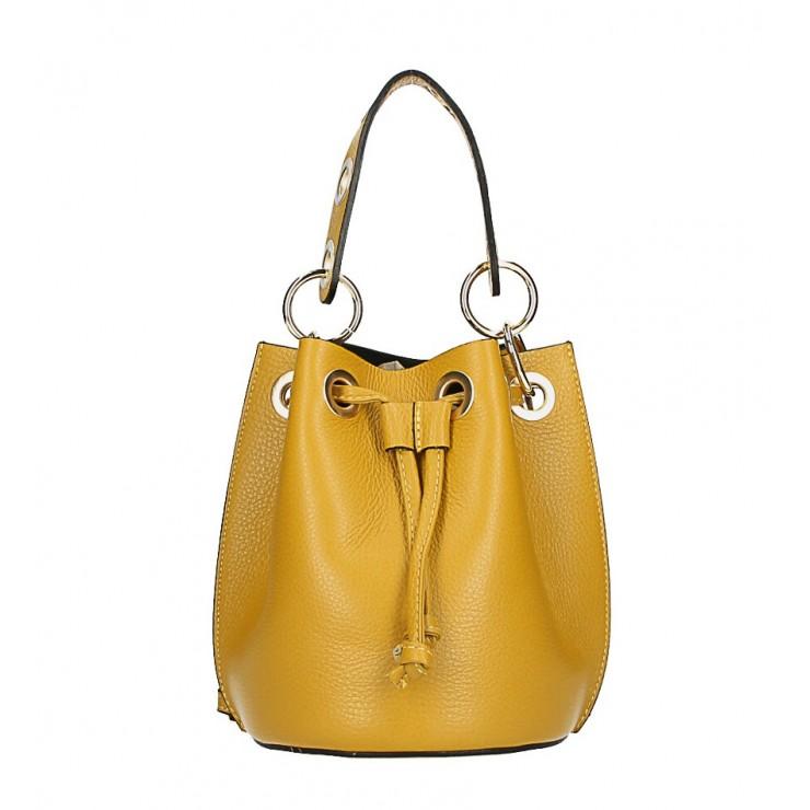 Vaková kožená kabelka 363 okrová