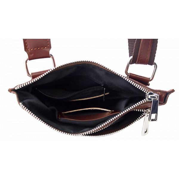 Pánska kožená taška na rameno  6 modrá Modrá