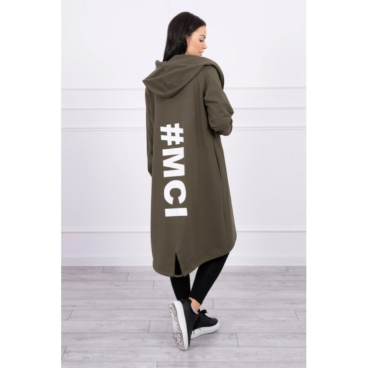 Long cardigan Plus size MI0021 khaki