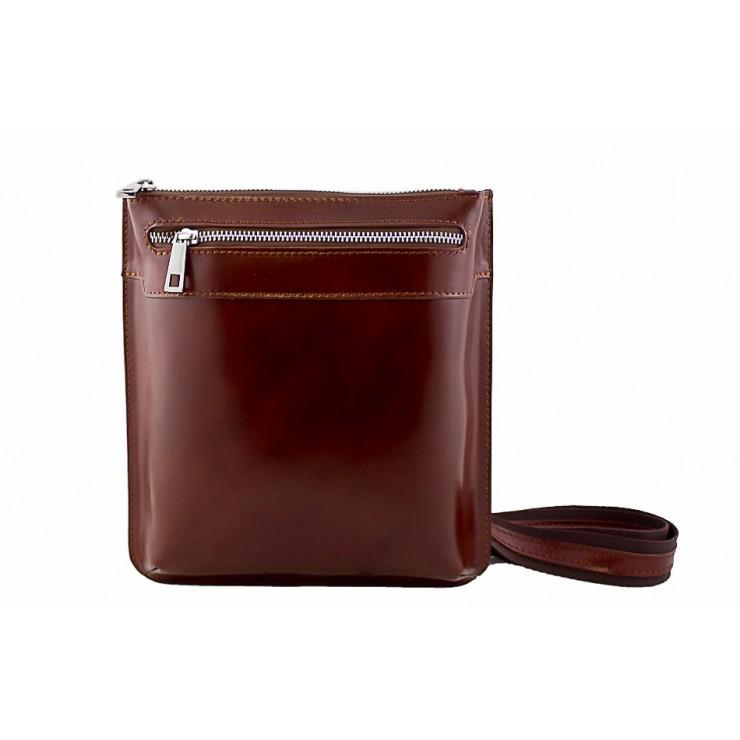 Pánska kožená taška na rameno  6 hnedá