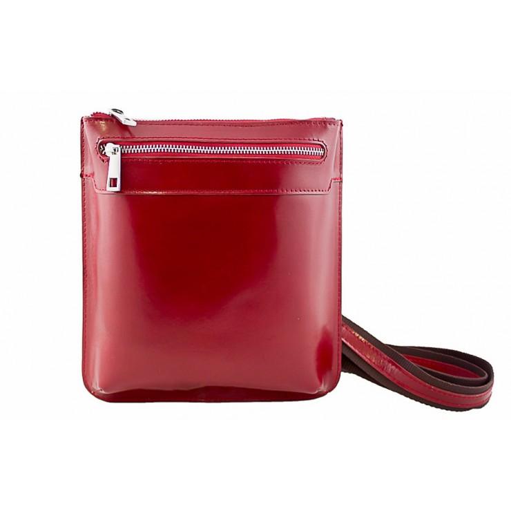 Pánska kožená taška na rameno  6 červená