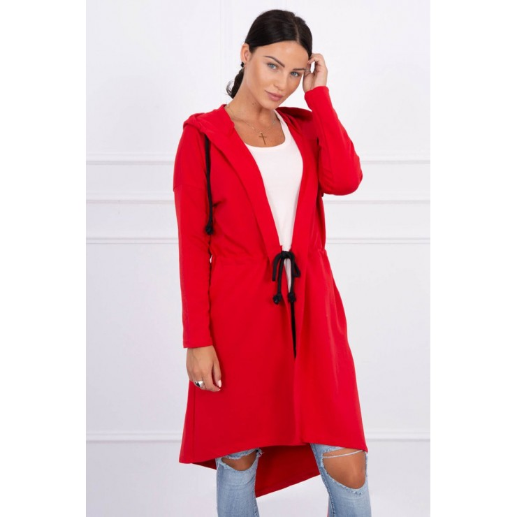 Cardigan with longer back MI8998 red