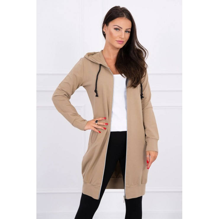 Hooded dress with e hood  MI8924 camel