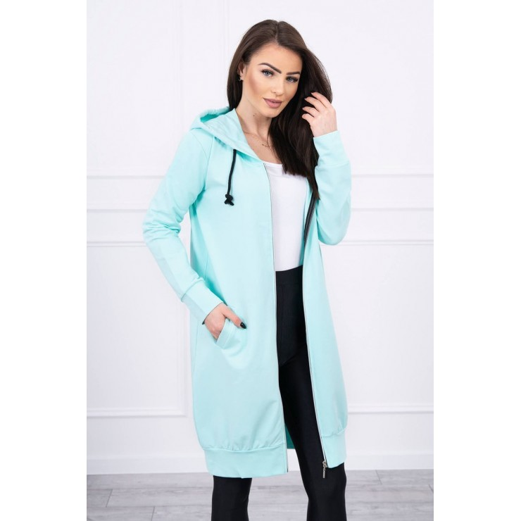 Hooded dress with e hood  MI8924 mint
