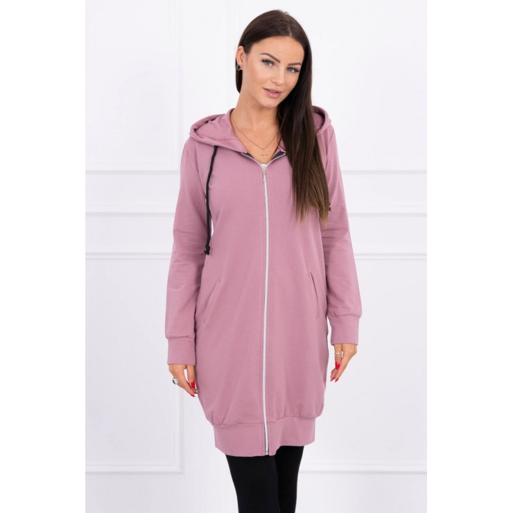Hooded dress with e hood  MI8924 dark pink