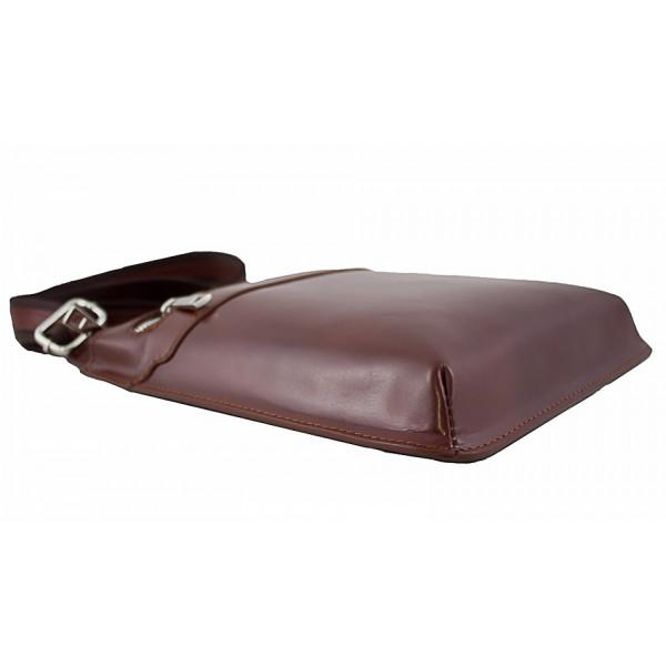 Pánska kožená taška na rameno  6 červená Červená