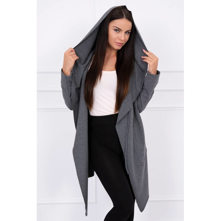 Cape with a hood MI8928 dark gray