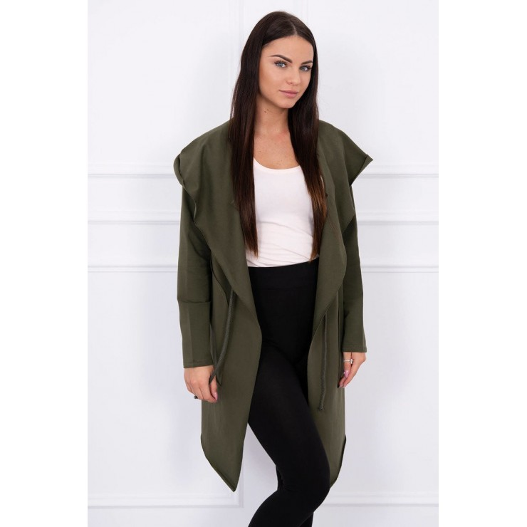 Cape with a hood MI8928 khaki