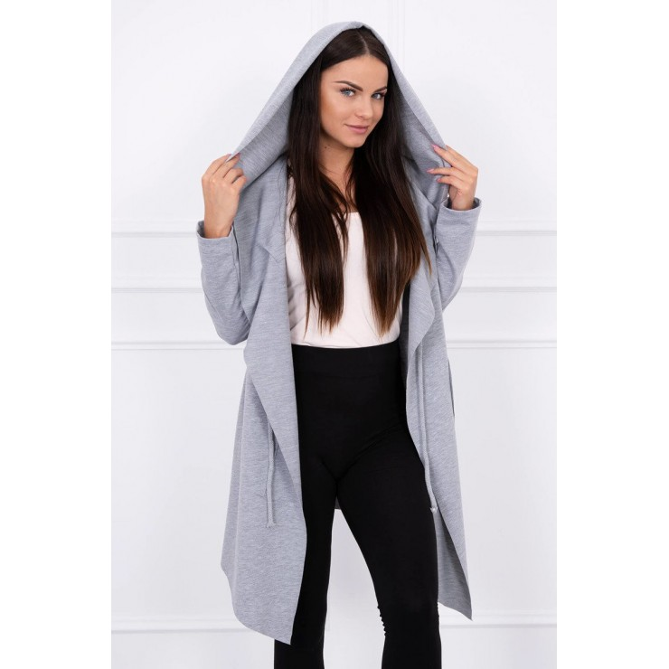 Cape with a hood MI8928 gray