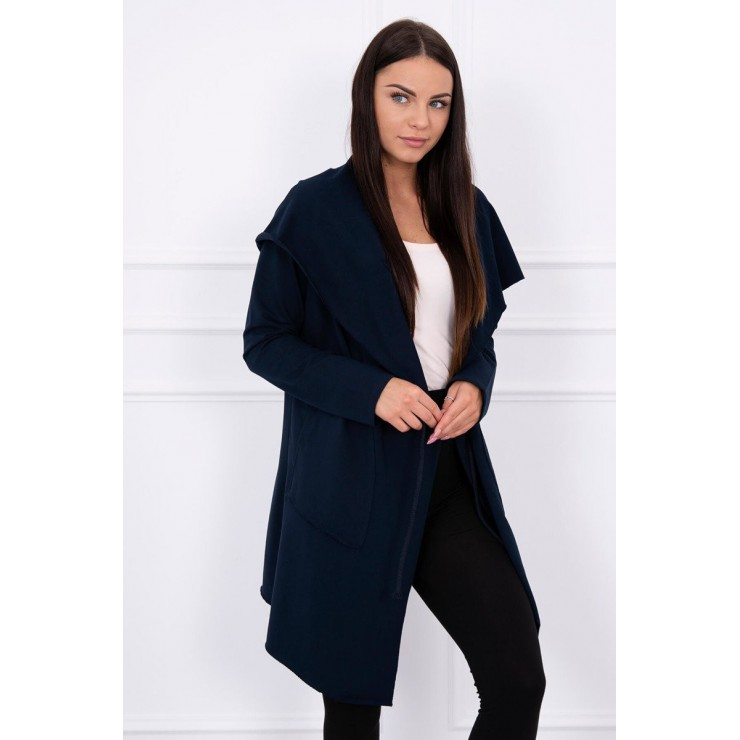 Cape with a hood MI8928 blue navy