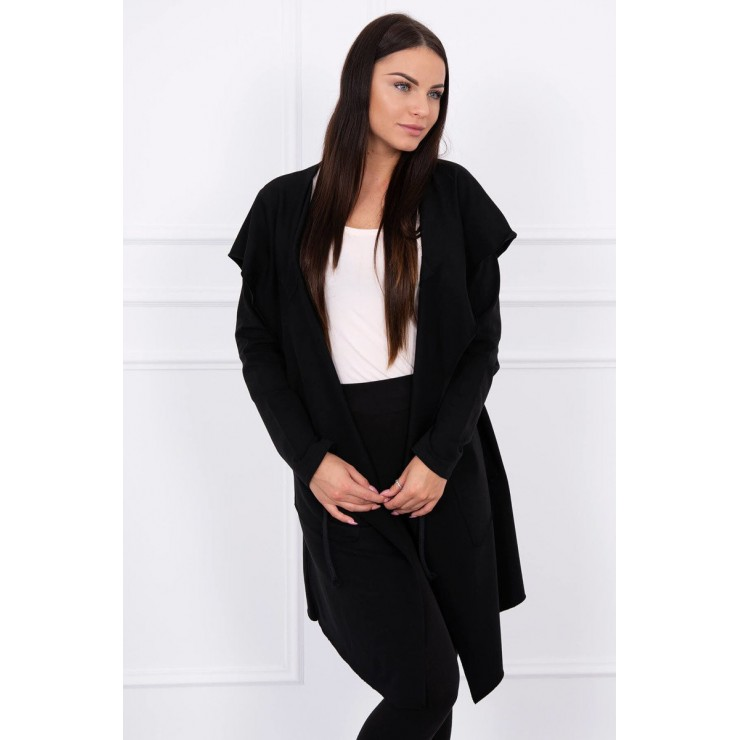 Cape with a hood MI8928 black