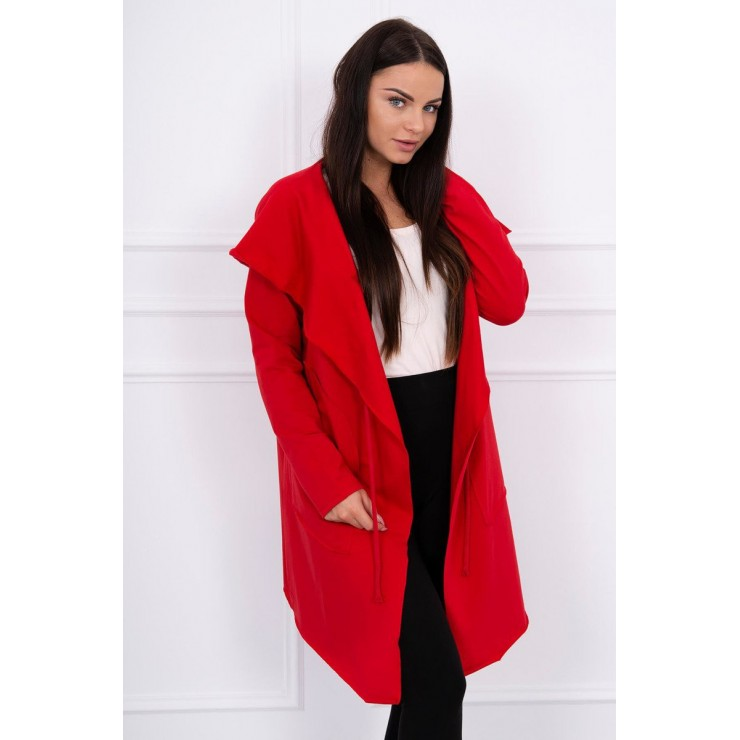 Cape with a hood MI8928 red