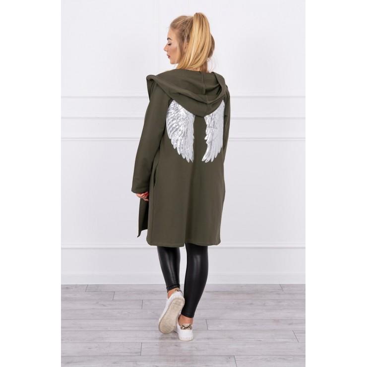 Cardigan SEQUIN WINGS  Plus size MI0016 khaki