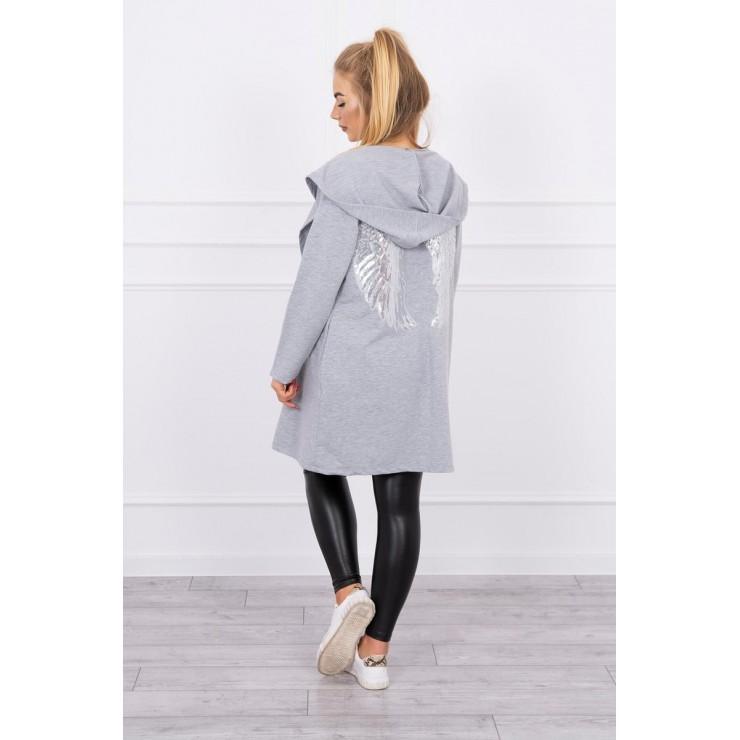 Cardigan SEQUIN WINGS Plus size MI0016 gray