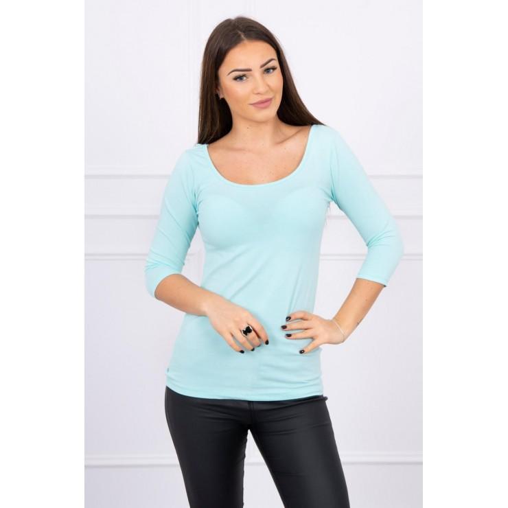 Tričko s okrúhlym výstrihom mätové
