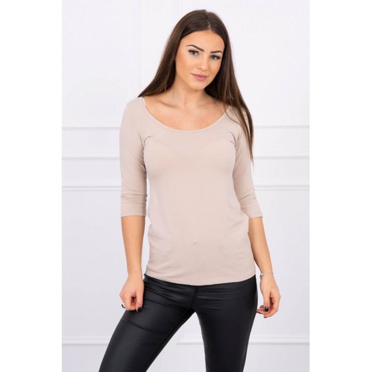 Women T-shirt MI8832 beige