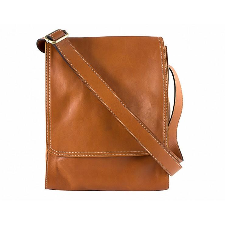 Pánska kožená taška na rameno 504 koňaková