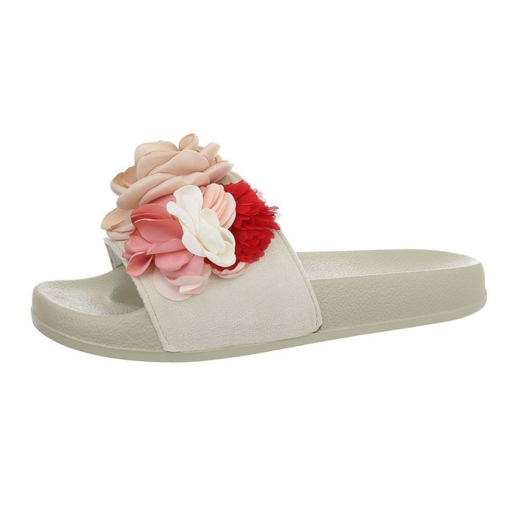 Ladies slippers 840A beige