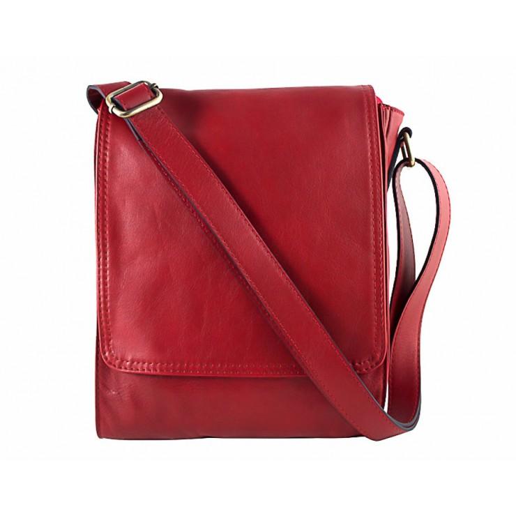 Pánská kožená taška na rameno 504 rudá