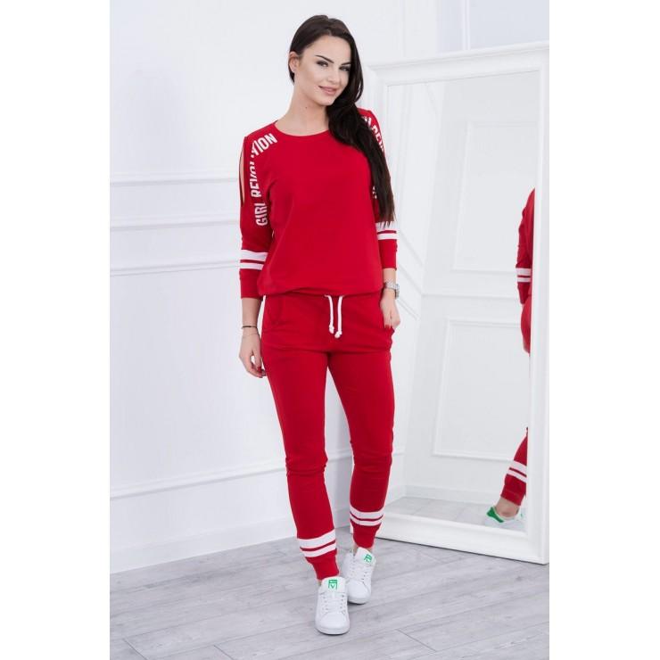 Women's set MI8849 Girl Revolution red