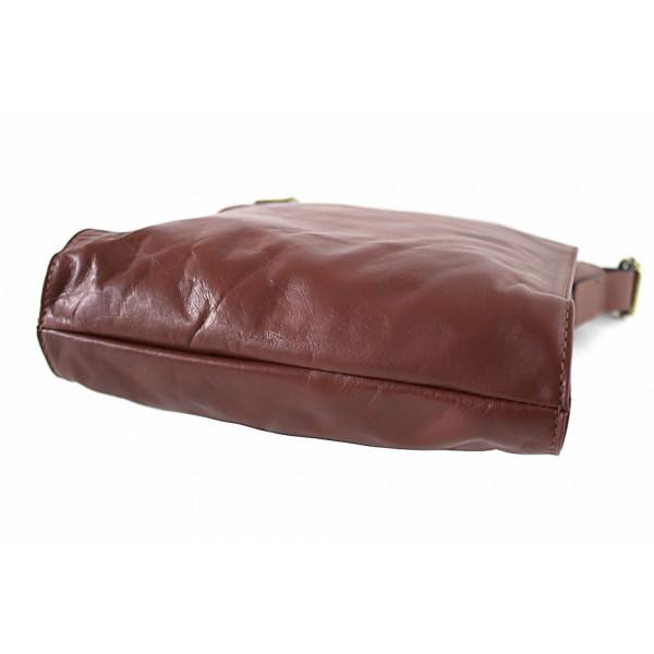 Kožená taška na rameno 504 červená Červená