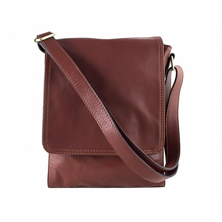 Pánska kožená taška na rameno 504 hnedá