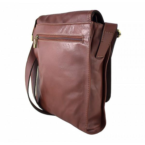 Pánska kožená taška na rameno 504 hnedá Hnedá