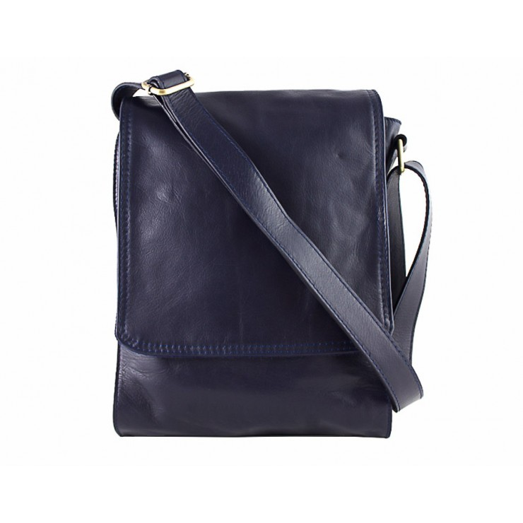 Leather Strap bag 504 blue
