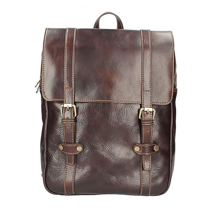 Kožený batoh 5342 tmavohnedý